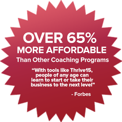 Over 65% more affordable than other coaching programs
