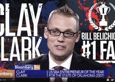 Bill Belichick's #1 Fan Clay Clark 16 Version 2