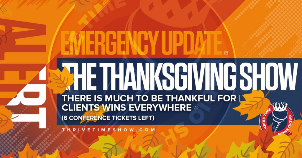 Facebook EmergencyUpdate Thanksgiving Thrivetime Show