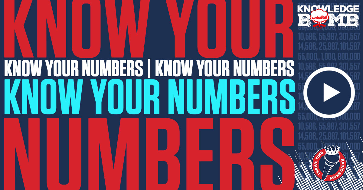 Facebook Know Your Numbers Know Your Numbers Knowledge Bomb Thrivetime Show