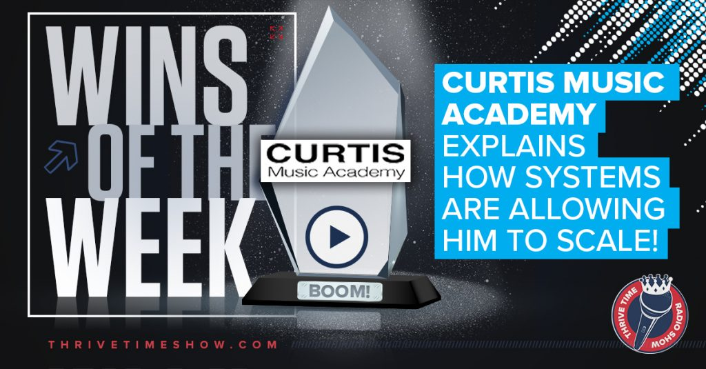 Facebook Post Curtis Music Academy Thrivetime Show