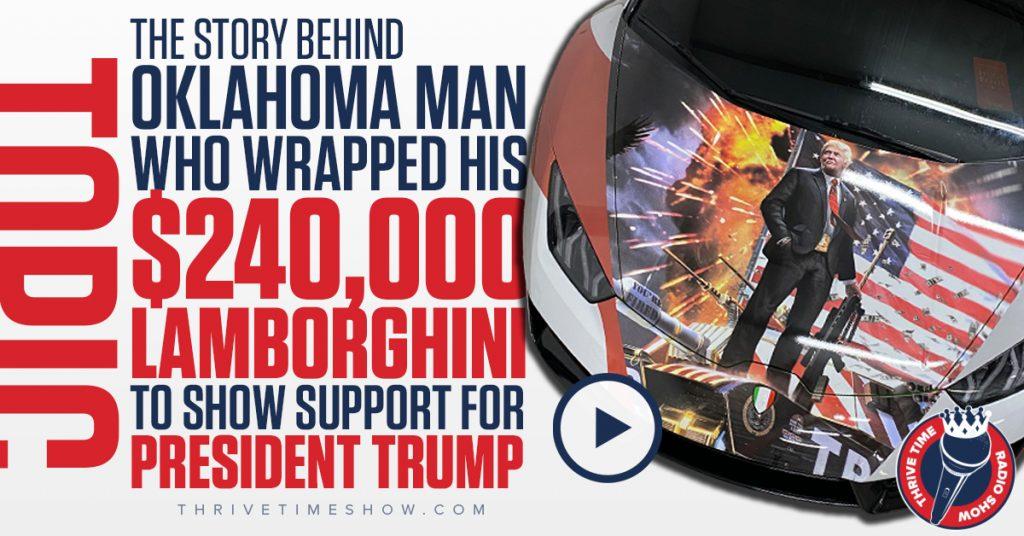 Facebook Trump Lamborghini Thrivetime Show
