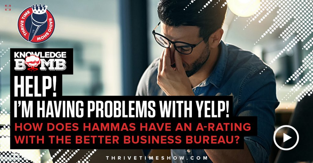 Help! I'm Having Problems With Yelp Knowledge Bomb Thrivetime Show Slides