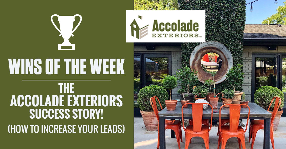 The Accolade Exteriors Facebook Post Wins Of The Week