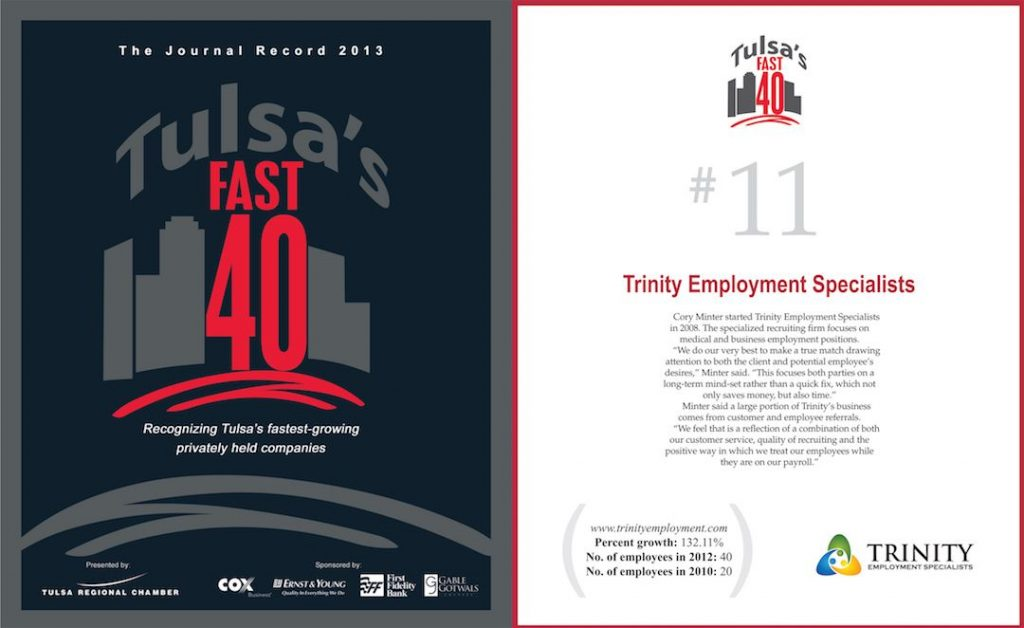 Business Coaching Clients In The News Trinity Employment Tulsa Fast 401