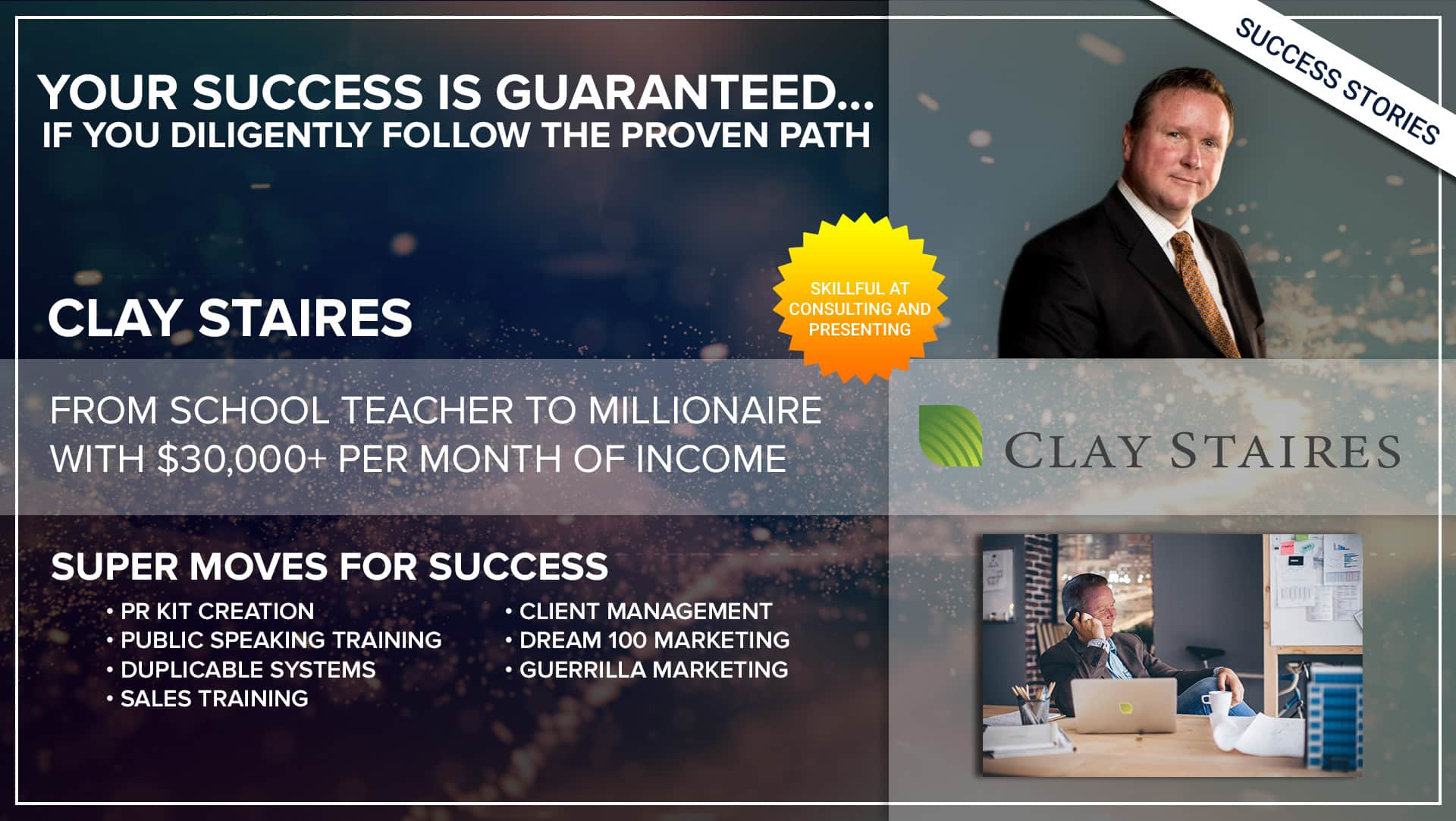 Business Coach | Success Clay Staires - Thrive15
