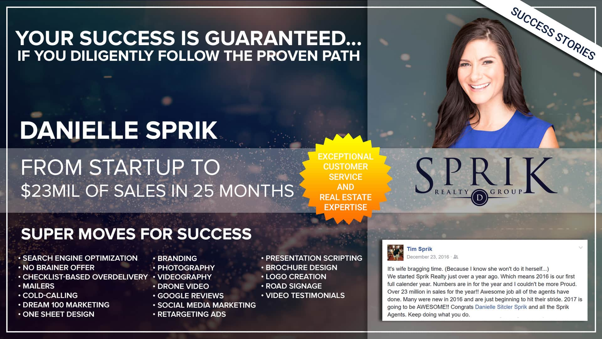 Business Coach | Success Danielle Sprik - Thrive15