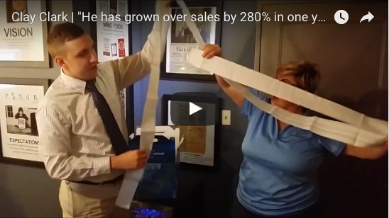 He has grown our sales by over 280% in one year!