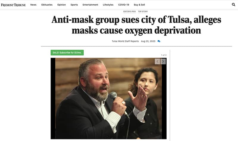 Business Coach Clients In The News Fremont Tribune Anti Mask
