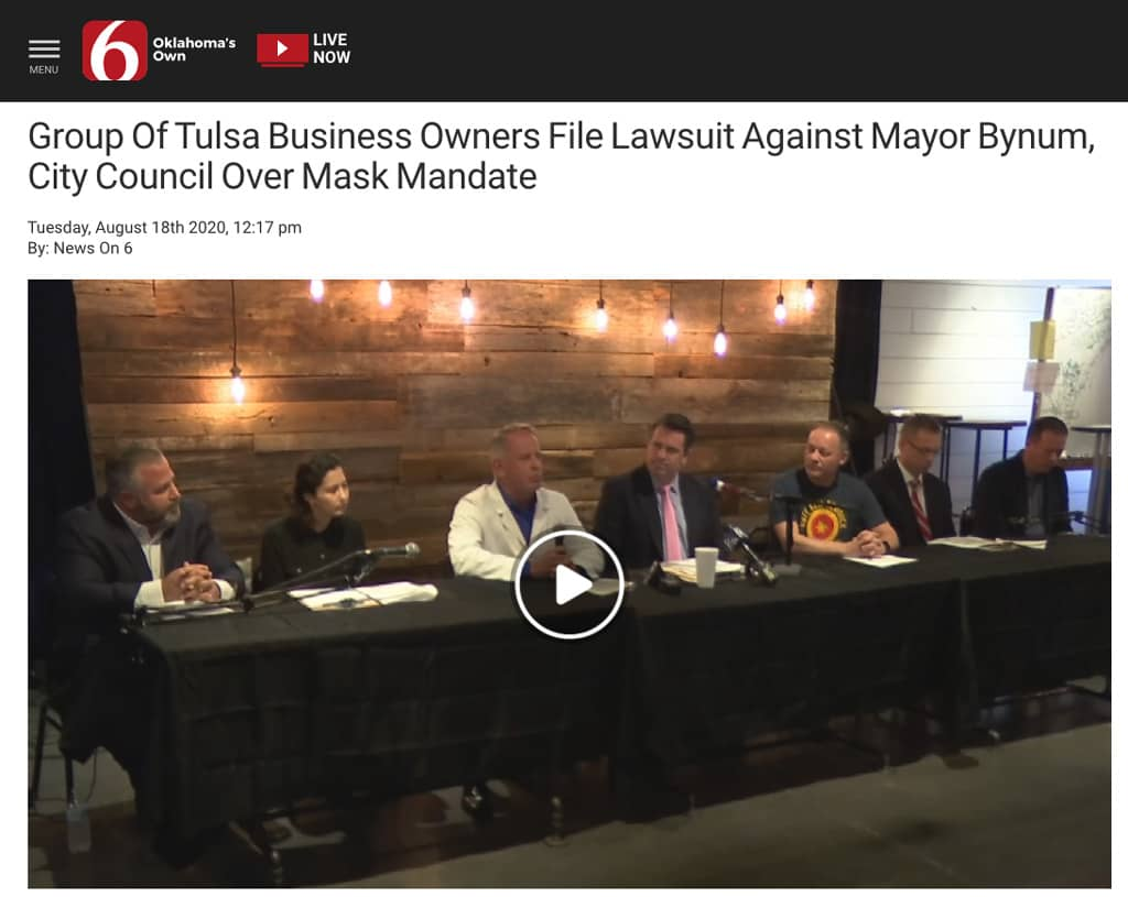Business Coach Group Files Lawsuit Against Mayor City Of Tulsa