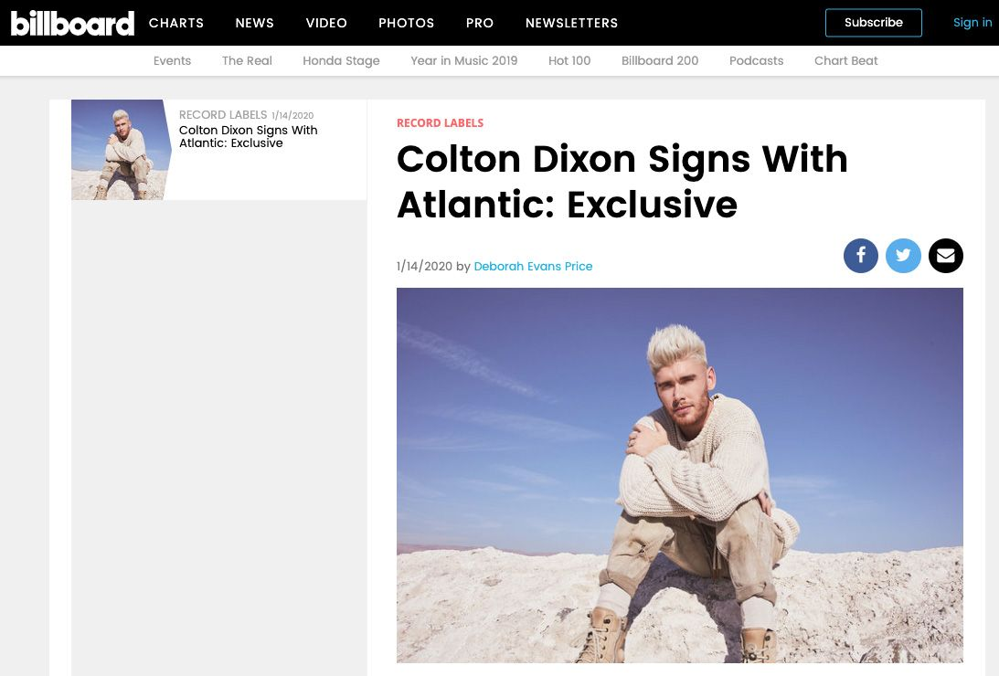 Business Coaching Clients In The News Colton Dixon Atlantic
