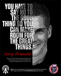 Business Podcasts Thrivetime Show Poster Craig Groeschel Quote