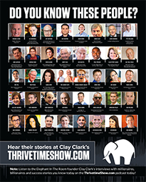 Business Podcasts Thrivetime Show Poster Radio Show guests