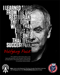 Business Podcasts Thrivetime Show Poster Wolfgang Puck Quote