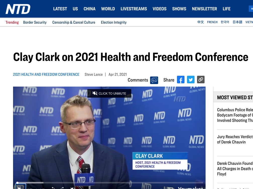 Clay Clark Ntd Health And Freedom Conference
